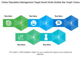 Online Reputation Management Target Board Smile Bubble Bar Graph Chess