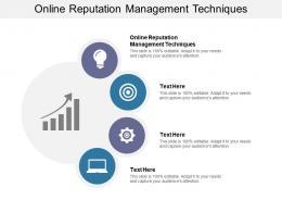 Online Reputation Management Techniques Ppt Powerpoint Presentation Slides Rules Cpb