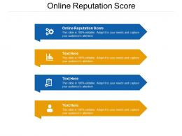 Online Reputation Score Ppt Powerpoint Presentation Summary Examples Cpb
