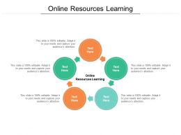 Online Resources Learning Ppt Powerpoint Presentation Portfolio Gallery Cpb