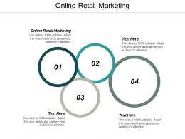 Online Retail Marketing Ppt Powerpoint Presentation Infographic Template Background Designs Cpb