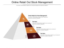 Online Retail Out Stock Management Ppt Powerpoint Presentation Outline Slides Cpb