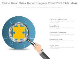 Online Retail Sales Report Diagram Powerpoint Slide Ideas