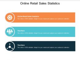 Online Retail Sales Statistics Ppt Powerpoint Presentation Slides Samples Cpb