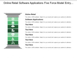 Online Retail Software Applications Five Force Model Entry Barriers