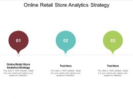 Online Retail Store Analytics Strategy Ppt Powerpoint Presentation Gallery Graphics Cpb