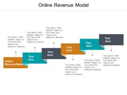 Online Revenue Model Ppt Powerpoint Presentation Show Layouts Cpb