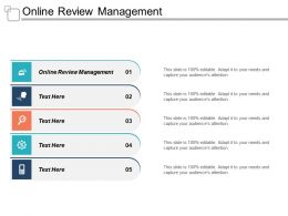 Online Review Management Ppt Powerpoint Presentation Gallery Samples Cpb