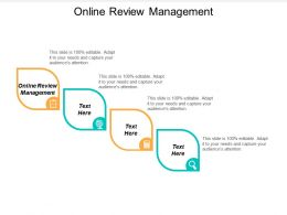 Online Review Management Ppt Powerpoint Presentation Ideas Master Slide Cpb