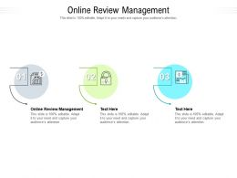 Online Review Management Ppt Powerpoint Presentation Outline Graphics Template Cpb
