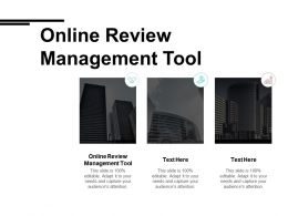 Online Review Management Tool Ppt Powerpoint Presentation Ideas Skills Cpb