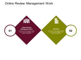 Online Review Management Work Ppt Powerpoint Presentation Pictures Maker Cpb
