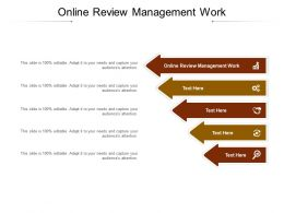 Online Review Management Work Ppt Powerpoint Presentation Show Visuals Cpb