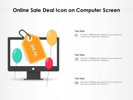 Online Sale Deal Icon On Computer Screen