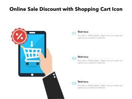Online Sale Discount With Shopping Cart Icon