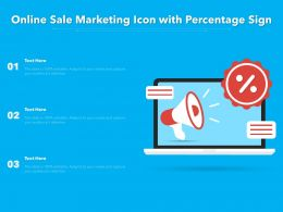 Online Sale Marketing Icon With Percentage Sign