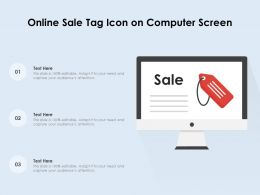 Online Sale Tag Icon On Computer Screen