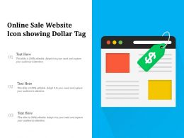 Online Sale Website Icon Showing Dollar Tag