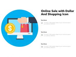 Online Sale With Dollar And Shopping Icon
