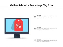 Online Sale With Percentage Tag Icon