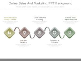 Online Sales And Marketing Ppt Background