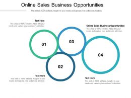 Online Sales Business Opportunities Ppt Powerpoint Presentation Slides Graphic Images Cpb