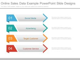Online Sales Data Example Powerpoint Slide Designs
