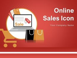 Online Sales Icon Marketing Computer Percentage Dollar Website