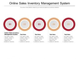 Online Sales Inventory Management System Ppt Powerpoint Presentation File Sample Cpb