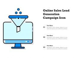 Online Sales Lead Generation Campaign Icon