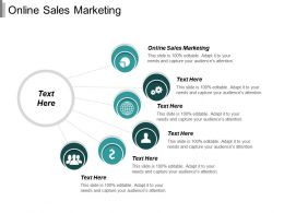 Online Sales Marketing Ppt Powerpoint Presentation Infographic Template Elements Cpb
