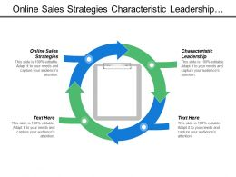 Online Sales Strategies Characteristic Leadership Customer Acquisition Strategy Marketing