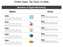 Online Sales Tax Facts Vs Myth Powerpoint Slide