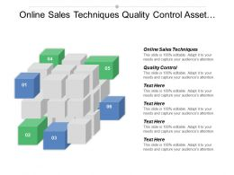 Online Sales Techniques Quality Control Asset Management Technology Change Cpb