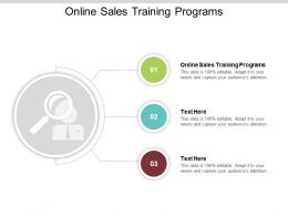 Online Sales Training Programs Ppt Powerpoint Presentation File Mockup Cpb