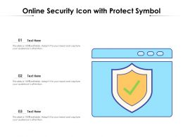 Online Security Icon With Protect Symbol