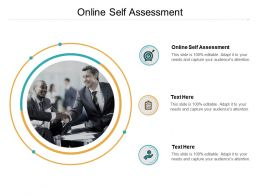 Online Self Assessment Ppt Powerpoint Presentation Layouts Slide Cpb