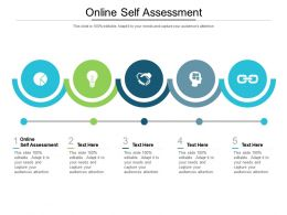 Online Self Assessment Ppt Powerpoint Presentation Portfolio Background Images Cpb