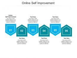 Online Self Improvement Ppt Powerpoint Presentation Summary Demonstration Cpb