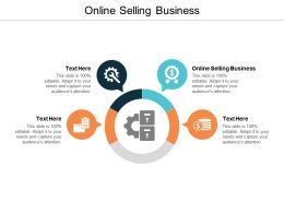 Online Selling Business Ppt Powerpoint Presentation Icon Rules Cpb