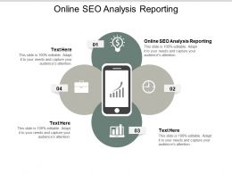 Online SEO Analysis Reporting Ppt Powerpoint Presentation Summary Styles Cpb