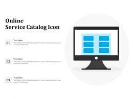 Online Service Catalog Icon