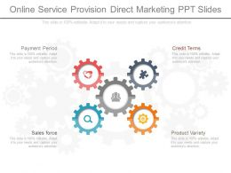 Online Service Provision Direct Marketing Ppt Sample