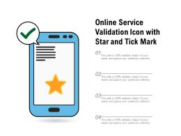 Online Service Validation Icon With Star And Tick Mark