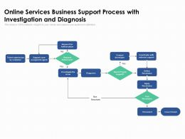 Online Services Business Support Process With Investigation And Diagnosis