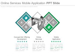 Online Services Mobile Application Ppt Slide