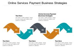Online Services Payment Business Strategies Ppt Powerpoint Presentation Ideas Outfit Cpb