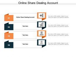 Online Share Dealing Account Ppt Powerpoint Presentation Inspiration Themes Cpb