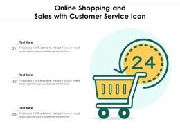 Online Shopping And Sales With Customer Service Icon