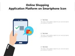 Online Shopping Application Platform On Smartphone Icon